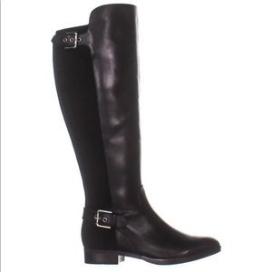 Marc Fisher Damsel Black knee high Leather Boots